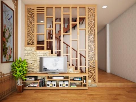 10 Mẫu vách ngăn phòng kết hợp tủ trang trí trong nội thất hiện đại