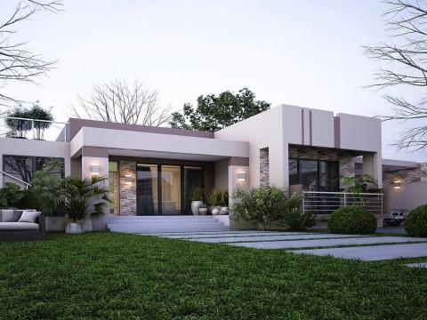 7 Mẫu thiết kế biệt thự Hiện đại sang chảnh với sân vườn rộng phù hợp xu hướng thiết kế 2019