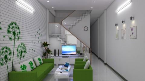 Mẫu thiết kế nhà cấp 4 có gác lửng đẹp lung linh 4,5x15m