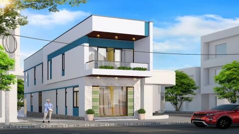Thi công trọn gói nhà anh Minh Đông Hà - Quảng trị - Nhà phố 4x23m