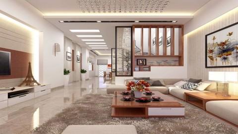 5 mẫu thiết kế nội thất phòng khách nhà ống