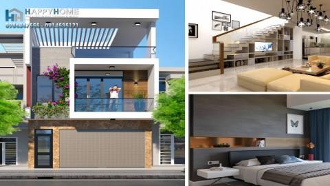 Xây nhà trọn gói 2019 anh Hổ Quảng Trị - Nhà 03 tầng 6x20m